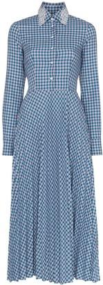 Anouki Check Open-Back Shirt Dress