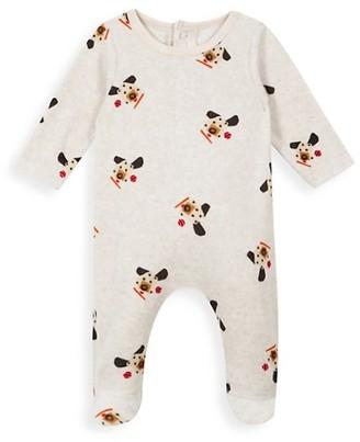 Catimini Baby Boy Dog-Print Footed Pajamas
