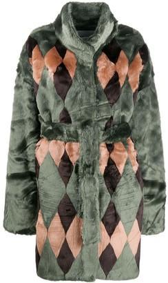 Antik Batik textured furry coat