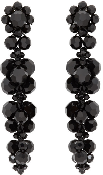 Simone Rocha Black Cluster Drip Earrings