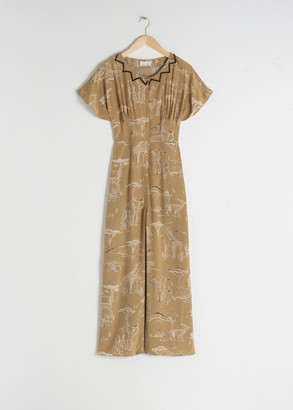 And other stories Safari Print Jumpsuit