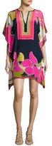 Trina Turk Theodora Floral Silk Tunic, Pink