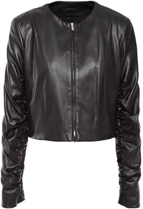 The Row Razna Ruched Leather Jacket