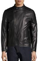 Salvatore Ferragamo Moto Style Leather Jacket