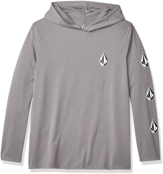 Volcom Men's Deadly Stones Long Sleeve UPF 50+ Hooded Rashguard