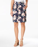 Charter Club Print Sateen Comfort Waist Skort, Only at Macy's