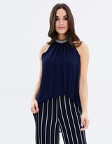 Wallis Embellished Halter Neck Top