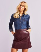 Only Faux Leather Skirt