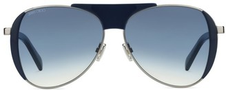 Jimmy Choo Raves 56MM Embellished Aviator Sunglasses