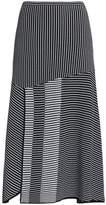 Diane von Furstenberg Fluted Stretch-Knit Cloqué Midi Skirt