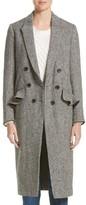 Burberry Women's Trentwood Double Breasted Herringbone Wool Coat