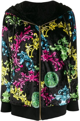 Versace Jeans Couture Zipped Baroque Print Jacket