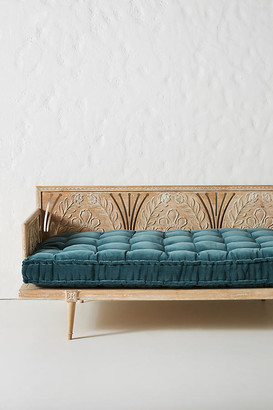 Anthropologie Velvet Daybed Cushion By in Blue Size ALL