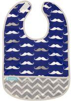 Kushies Mustache Cleanbib in Navy