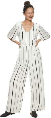 As U Wish Junior's Short Sleeve Waisted Jumpsuit