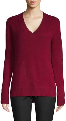 Saks Fifth Avenue Cashmere High-Low Cashmere Sweater