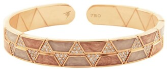 Alessa Rose Gold And Diamond Binary Elixir Bangle