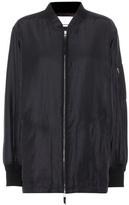 Alexander Wang Silk and cotton bomber jacket