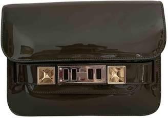 Proenza Schouler PS11 Khaki Patent leather Handbags