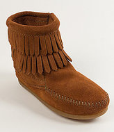 Minnetonka Double Fringe Suede Girls' Boots
