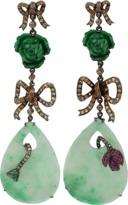 WENDY YUE Jade Rose Drop Earrings