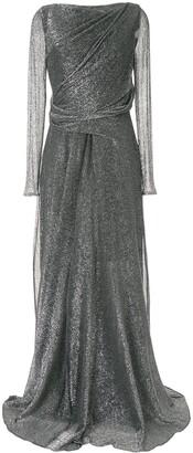 Talbot Runhof Ross draped gown