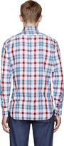 Thom Browne Red Light Flannel Plaid Classic Shirt