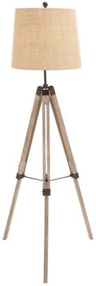 Uma Wood Metal Tripod Floor Lamp