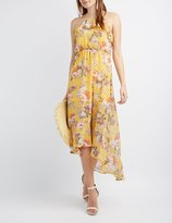 Charlotte Russe Floral High-Low Maxi Dress