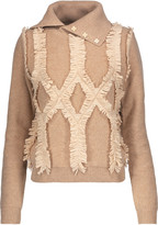 Jonathan Simkhai Embellished fringed wool turtleneck sweater