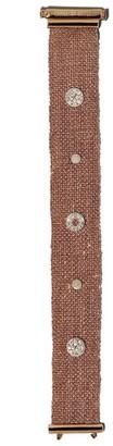 Carolina Bucci 18kt rose gold and silk woven diamond studded VIII bracelet
