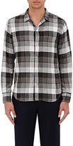 Officine Generale MEN'S PLAID COTTON TWILL SHIRT