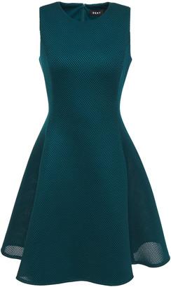 DKNY Flared Mesh Mini Dress