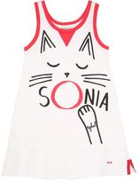 Sonia Rykiel Cat Printed Cotton Jersey Dress