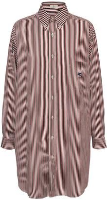 Etro Oversize Cotton Poplin Shirt Dress