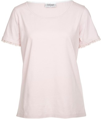 Wallace Cotton Asha Short Sleeve Tee Rose Pink