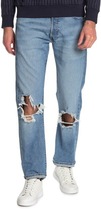 """Levi's 501 Distressed Relaxed Fit Jeans - 30-38"""" Inseam"""
