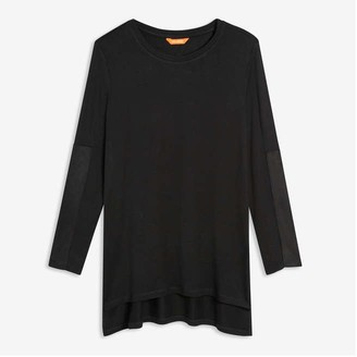 Joe Fresh Women's Contrast Sleeve Tee, JF Black (Size XL)