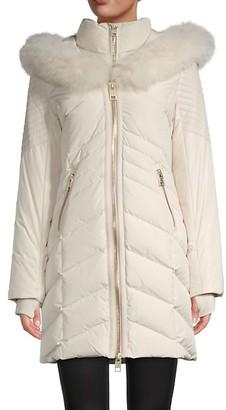 Nicole Benisti Cortina Fox Fur-Trim Down Puff Coat