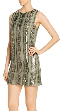Elie Tahari Esmarella Embellished Shift Dress