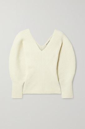 Mara Hoffman Olla Ribbed Organic Cotton-blend Sweater - Cream