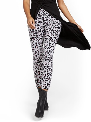 New York & Co. Whitney High-Waisted Pull-On Ankle Pant - Animal Print