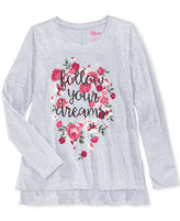 Epic Threads Girls' Graphic-Print Long-Sleeve T-Shirt, Only at Macy's