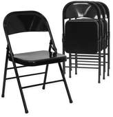 Flash Furniture Hercules Metal 4-Pack Folding Chairs in Black