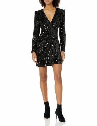 ASTR the Label Women's Paris Velvet Sequin Wrap Mini Dress