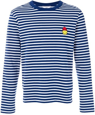 Ami Paris Long Sleeved T-Shirt With Smiley Patch