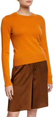 Vince Runner Crewneck Long-Sleeve Cashmere Rib Sweater