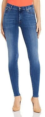 7 For All Mankind Slim Illusion High-Waist Skinny Jeans in Luxe Lovestory