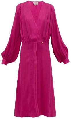 ZEUS + DIONE Rania Silk-blend Crepe Wrap Dress - Pink