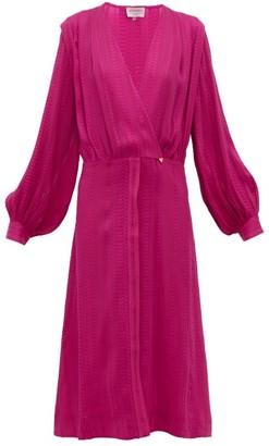 ZEUS + DIONE Rania Silk-blend Crepe Wrap Dress - Womens - Pink